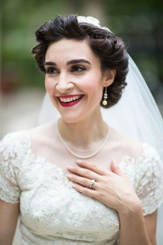 She has such a beautiful vintage face! Chicago Wedding at Signature Room at the 95th from Emilia Jane Photography Read more - http://www.stylemepretty.com/illinois-weddings/2012/09/03/chicago-wedding-at-signature-room-at-the-95th-from-emilia-jane-photography/