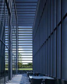 ELEMENTS restaurant by Elliott + Associates Architects. West courtyard inside sun screen.