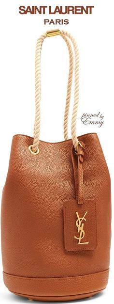 Brilliant Luxury ♦Saint Laurent Seau grained-leather bucket bag