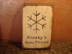 Frosty's baby picture - ha-ha
