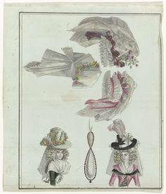 Magasin des Modes Nouvelles Françaises et Anglaises, 11 décembre 1788, Pl.  1,2, A.B. Duhamel, Defraine, Buisson, 1788