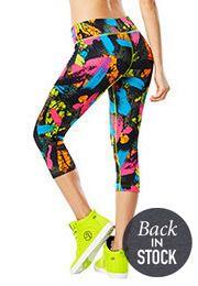 Da Zumba Funk Perfect Capri Leggings | Zumba Wear Save 10% on Zumba® wear on zumba.com with savings code 10SALE. Click to shop-> http://www.zumba.com/en-US/store/US/affiliate?affil=10sale