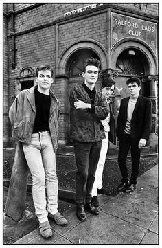 Stephen Wright's original shot of the Smiths outside Salford Lads Club, which was used inside the sleeve of the band's 1986 album The Queen Is Dead