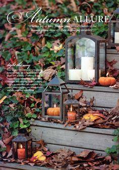 Lanterns for Fall Porch