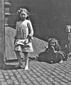 Barefoot-girls   Streets of Liverpool