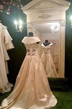 Grace unique pure silk wedding dress with by PetiteLumiereCo