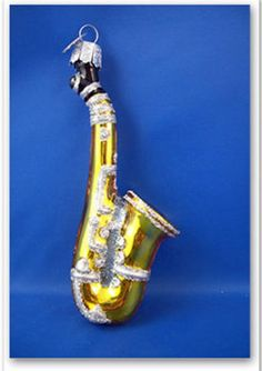 Saxophone Band Music instrument Glass Merck's Old World Christmas Ornament 38025