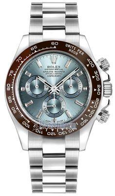 Rolex Cosmograph Daytona Platinum 116506LN Ice Blue Baguette Index