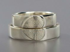 Heart Wedding Ring Set  We Hold One Heart in by LichenAndLychee, $162.00