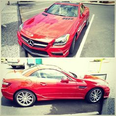 Spotted: SLK 55 AMG (this little car has a v8!) #protecautocare