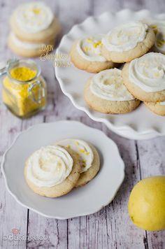 Lemon Curd Thumbprints with Lemon Buttercream