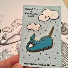 A personal favourite from my Etsy shop https://www.etsy.com/uk/listing/491267127/narwhal-enamel-pin-by-whimsical-lush