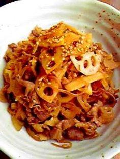 楽天が運営する楽天レシピ。ユーザーさんが投稿した「豚肉と糸コンニャクとレンコンのスペシャル炒め♪」のレシピページです。豚肉の旨みを♪れんこんのシャキシャキ感を♫糸こんにゃくでグレードUPお弁当にも~Goodです♪。豚肉と糸コンニャクとレンコンの炒めもの。豚肉,れんこん,糸こんにゃく,ごま油,*お酒,*みりん,*砂糖,*顆粒だしの素,◎醤油,いりごま(白)