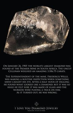 The world's largest diamond rough . . . over 3000 carats!!