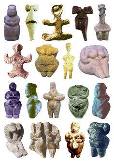 Chalcolithic Goddesses (Copper Age)  (3500 – 2300 BC)  via >etsi-ketsi.net