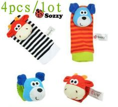 Baby Toy Baby Rattles Toys Animal Socks Wrist Strap With Rattle Baby Foot Socks Bug Wrist Strap baby socks