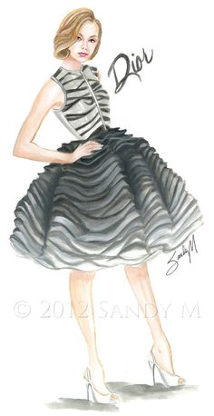#Fashionillustration Illustrator SANDY M