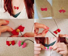 Craft a beginner-level Sailor Moon bow necklace and show off your mad skills. | 19 Awesome Craft Projects You Can Make With Polymer Clay