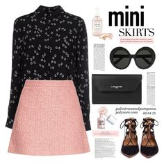 """Mini Me: Cute Skirts"" by palmtreesandpompoms ❤ liked on Polyvore featuring Maison Kitsuné, Gucci, Aquazzura, Lancaster, Linda Farrow, Herbivore Botanicals, Michael Kors, Balmain, Benefit and MINISKIRT"