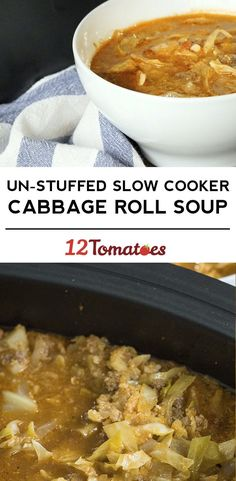 Slow Cooker Un-Stuffed Cabbage Roll Soup