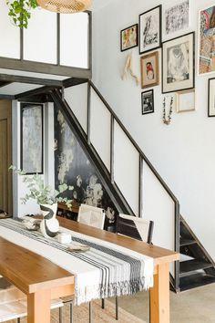 modern brooklyn loft staircase