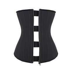 JOYMODE Women/'s 25 Steel Boned Workout Underbust Corset,Atrous-Zipper with Hook&Eye,XXX-Large. 100% brand new by JOYMODE.If offerred by other sellers in this listing will be different item. Latex waist cincher corset is comfortable to wear. 25 steel bones with zipper closure outer and hooks inner allow for the size adjustment for the shrinking midsection. It is an excellent fit for short torso and normal torso body types. If you are not sure about your size or have any other questions...