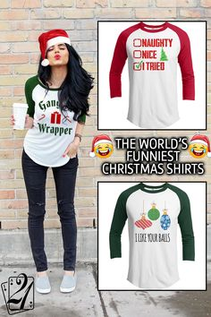 """Look Cool...Don't Be A Sweater Fool This Holiday Season! 21 Threads is the home of the """"World's Funniest Christmas Collection"""" Our super soft, premium cotton/poly blend raglans are not only the funniest shirt you'll see this year, but the softest and most comfy too! Ugly christmas sweaters are so 2011. Over 300 adult+kids designs, hilarious home decor, christmas mugs, leggings, tumblers, pillows and much more!--21threads.com--is your 1 stop shop for holiday awesomeness! Check us out Today!"""