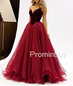 Red tulle long prom dress,unique red evening dress for teens, formal party evening dress