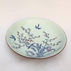 Chinese Blue And White Underglaze Red Porcelain Plate
