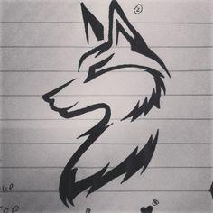 Wolf tattoo idea