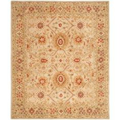 Safavieh Anatolia Ivory and Sage 9 ft. x 12 ft. Area Rug-AN516B-9 at The Home Depot
