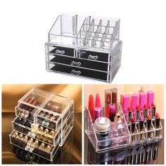 Kosmetik Organizer Make-up Acryl Aufbewahrung Beauty Kosmetikbox 4 Schubladen