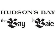 The new English-language Hudson's Bay logo, top, and the outgoing versions. (March 7, 2013)