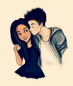 Find images and videos about art, drawing and draw on We Heart It - the app to get lost in what you love. Cute Couple Drawings, Love Drawings, Art Drawings, Cute Love Pictures, Love Images, Citation Cute, Interracial Art, Black Couple Art, Desenhos Love