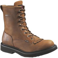W06682 Wolverine Men's Ingham Work Boots - Dark Brown