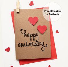 Happy Anniversary Card Heart – Cute Anniversary Card – Happy Anniversary Card – Wedding Anniversary Card – Heart Anniversary Card by SweetCCDesign on Etsy https://www.etsy.com/au/listing/248689109/happy-anniversary-card-heart-cute