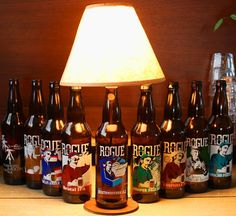 Rogue Beer Bottle Lamp Light by BrewLamps