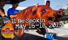 Memphis in May International BBQ Competition. And earlier in the month: Smokin' music festival