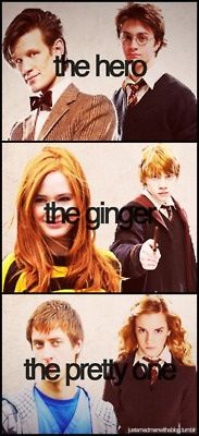 Doctor who+ Harry potter CROSSOVER ha 'the pretty one' ... I would argue, they're all heroes...