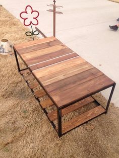 Reclaimed wood coffee table on Etsy, $225.00