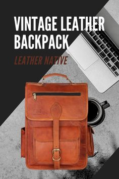 This Leather 2-in-1 Rucksack and Courier Bag is for people who are self-aware in a unique fashion taste. Whether you have got a new job or are traveling your favorite destination, How To Make Leather, Small Leather Bag, Leather Bags Handmade, Simple Bags, Natural Leather, Vintage Leather, Unique Fashion, Traveling By Yourself, Messenger Bag