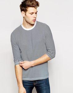 Brave+Soul+3/4+T-Shirt+Stripe