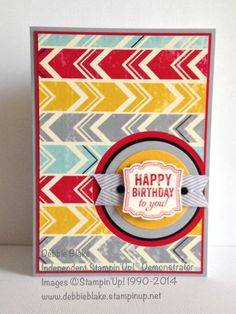 Flashback DSP and Label Love. Inspired by Brian King. Thanks Brian!! Debbie Blake Independent Stampin' Up! Demonstrator.