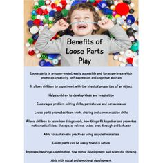 This Loose Parts Resource Pack includes documents designed to help you display the many benefits of loose parts play link loose play to the curriculum create meaningful learning stories and create wall displays in your early years setting Learning Stories, Play Based Learning, Project Based Learning, Learning Through Play, Early Learning, Emergent Curriculum, Reggio Inspired Classrooms, Play Poster, Infant Lesson Plans