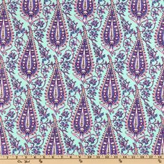 Amy Butler Love Flannel Cypress Paisley Mint