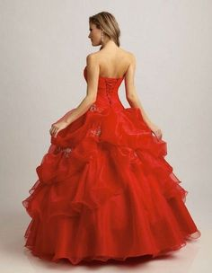 ball gown wedding dresses with red  | China Custom Red Color Ball Gown Sweetheart Masquerade Prom Dresses ...