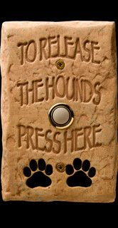 This describes my house perfectly! DogBellz -- Handmade, Hand-painted, Made-in-the-USA Dog Doorbells - used