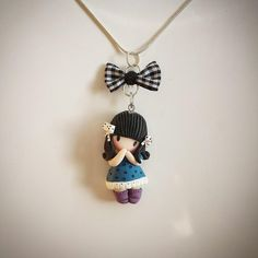 Gorjuss inspired polymer clay pendant by Ruby-creations on DeviantArt