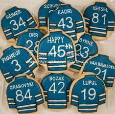Sweet Handmade Cookies: Toronto Maple Leaf Hockey Jersey Birthday Cookies