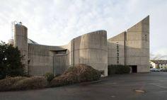 Church St Pius X. (1964-67) in Neuss, Germany, by Margot & Joachim Schürmann #socialist #brutalism #architecture